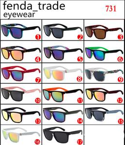 Bonne qualité vintage été sport lunettes de soleil hommes designer mode top plat lunettes de soleil hommes 731 cyclisme rapide grand carré oculos de sol 10pcs