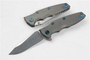 Special Offer High End M390 Blade Steel Flipper Folding Knife HRC60 Stone wash Blade Titanium Handle Ball Bearing System EDC Pocket Knife