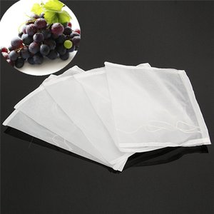 5 Unids 160 Malla Nylon Colador Bolsa de Filtro para Tuercas Leche Saltos Tea Brewing Food Filtration House Home Wine Beer Hacer Bar herramienta