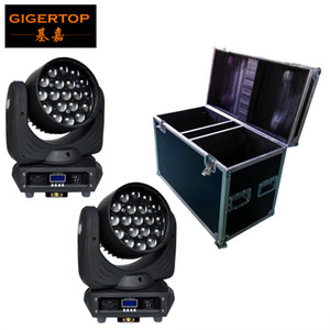2IN1 Flight Pack-19 * 12W Led Moving Head-Summen-Licht OSRAM LED RGBW 4IN1 Farbmisch Zoom 6-50 Grad DMX 16CH CERROHS Adjust