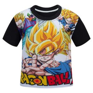 4-13 jahre sieben dragon ball kinderbekleidung, schwarze baumwolle Junge Kurzarm billig kinder schule T-shirt hersteller outlet 110-150 cm