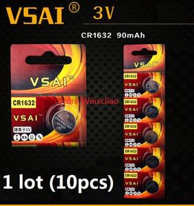 10 stücke 1 los CR1632 3 V lithium li ionen Knopfzelle CR 1632 3 Volt li-ion münzbatterien VSAI Kostenloser Versand