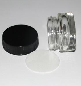 frasco de vidrio vacío de alta calidad de vidrio de 5 ml de cera dab contenedor pequeño vidrio de almacenamiento de alimentos de vidrio templado para