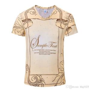 Verão quente V Pescoço T-shirt Retro Mais Novo Estilo 3D Impresso T Shirt Homens Marca Famosa Roupas de Luxo