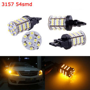 4pcs 3156 3157 Âmbar Xenon Branco Reverse Luzes / Cauda 54SMD LED Car Light Bulb