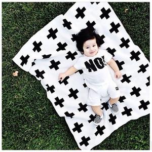 Bebek battaniye çocuklar Yenidoğan Battaniye Bebek Yatak Battaniye Kundaklama 90x115 Flanel Battaniye Alma Çapraz Moda Kundak bebek beşikler