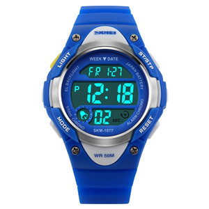 SKMEI Children Outdoor Sports Watches Boy Alarm Digital Watch Kids Stopwatch Waterproof Girls Boys Wristwatches Clock 1077