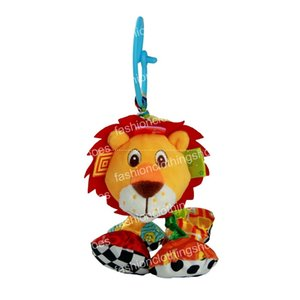 Selzzy bebê brinquedo vibrated animal pelúcia chocalho leão ruga brinquedo de som multicolor multicunção suave multifuncional 18cm EMCCB