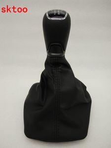 Para Skoda 2007-2014 Octavia Shift alavanca de proteção contra poeira Manual de engrenagem coldre alavanca de câmbio capa de poeira Gear Shift Knob
