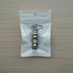 가방 포장 화이트 + 클리어 자기 인감 지퍼 플라스틱 소매, 폴리 가방 꽉 구멍 선물 자동차 충전기 USB 케이블 2000PCS / 로트