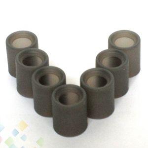 Large Bore Caps test en silicone à usage unique goutte à goutte pointe couvercle gris caoutchouc Embouchure testeur pour grand diamètre goutte à goutte Conseils Ecig DHL gratuit