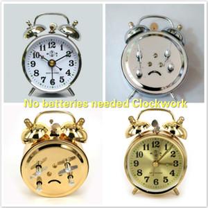 Horloge mécanique Aucune batterie nécessaire Alarme Clockwork Réveil Vintage Noyau de cuivre Type876 7x10cm économie d'énergie Free DHL