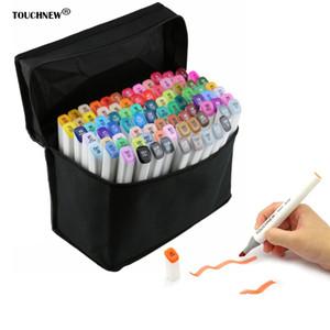 30 шт. / лот художественные принадлежности художник Двуглавый маркер набор маркер ручка манга анимация дизайн краска эскиз Copic маркеры для рисования