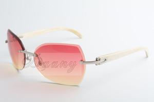 Nuestra empresa vende nuevos tipos de gafas de sol, gafas de sol 8300818 de alta calidad, gafas de moda y ángulos blancos: 60-18-140 mm