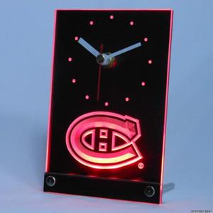 Atacado-tnc0540 Montreal Canadiens Mesa, Secretária 3D Relógio LED