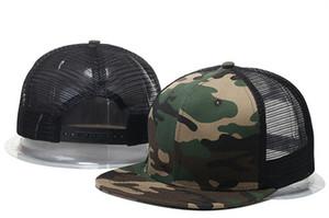 Großhandel 2017 Sommer Stil einstellbar Blank Mesh Camo Baseballmützen Hysteresenhüte für Männer Frauen Mode Sport Hip Hop Knochen