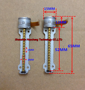 Marka yeni Japonya 15 MM stepping motor ile 52mm vida çubuk 2-phase 4-wire 15 * 12mm step motor ~