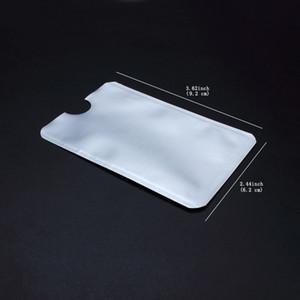 Folha de alumínio Cartão De Segurança Escudo De Cartão De Crédito RFID Proteção Anti-Roubo de Segurança Mangas Protetor Escudo Cartão de Segurança À Prova D 'Água