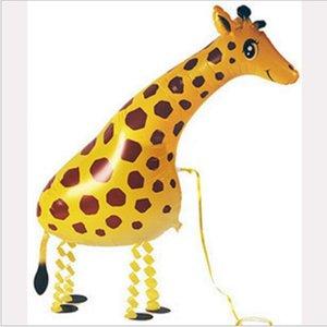 Desenhos animados Andando Balões Animal de Estimação Girafa Animal Balões Balões De Hélio Festa De Casamento Celebração Decorações Crianças Caçoa o Presente Brinquedos