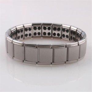 Pulsera de acero inoxidable de titanio de germanio pulsera de cuidado de la salud accesorios de la pulsera venta caliente magnética envío gratis