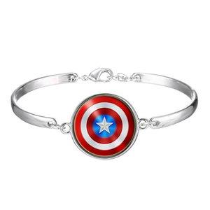 Новая мода браслеты очарование Мстители Капитан Америка щит металлический браслет модные браслеты ювелирные изделия бесплатная доставка