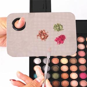 Palette Clair Acrylique Nail Art Maquillage Polonais Gel Fondation Fard à Paupières Mélange Spatule En Acier Inoxydable Tige Manucure Set Outils