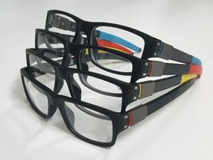 Venta al por mayor al por menor 1pcs silenciador de marca de moda marcos de marcos coloridos marcos ópticos de lentes de plástico en bastante buena calidad