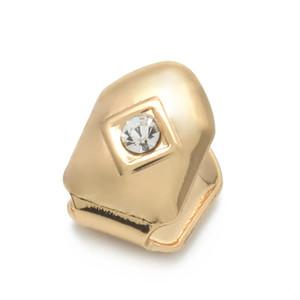 الأسنان صالح الجديدة مخصص الذهب Rosegold الفضة مطلي بندقية الهيب هوب واحدة GRILLZ كاب الأعلى القبعات الأسنان أسفل الشواية الذهب