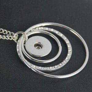 Noosa collana pendente gioielli multistrato ciclo 18mm 20mm ginger snap pulsante intercambiabile donne elegante catena maglione regalo shippin libero
