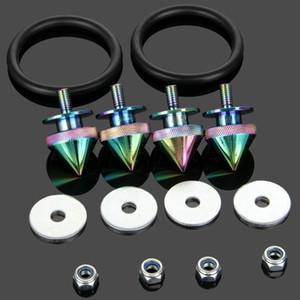 Универсальный быстросъемный комплект крепежных деталей JDM Алюминиевая шайба / гайка для бампера, люк багажника, двигатель, откидной комплект, Nero Chrome SPIKE