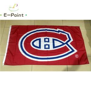 Canadiens de Montréal 3 piedi x 5 piedi (90cm * 150cm) poliestere bandiera