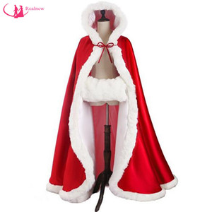 Chirstmas Design Long Length Ladies Winter Cloak Custom Made Hooded Good Quality Exclusive Faux Fur Bridal Cape