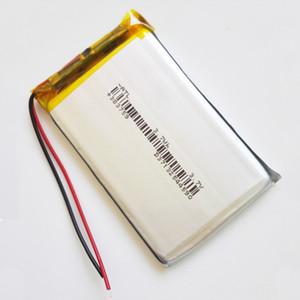 Model 383759 3.7 V 850 mAh Lityum Polimer Li-Po Mp3 MP4 DVD PAD Için Şarj Edilebilir Pil cep telefonu GPS güç bankası Kamera E-kitaplar recoder