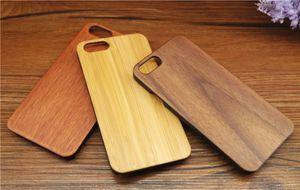 Legno di lusso per Samsung Galaxy S5 S6 bordo S7 Cassa del telefono mobile Custodia in legno antiurto per PC Custodie per iPhone 6 7 6s plus