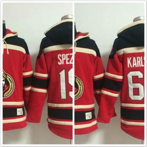 Оттава сенаторы толстовки Карлссон # 65 SPEZZA#19 хоккей с капюшоном толстовки Красный
