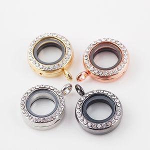 Atacado- nova moda 20mm 10 pçs / lote medalhões de flutuação de vidro diy vivendo memória medalhão sem cadeia frete grátis tb200 #