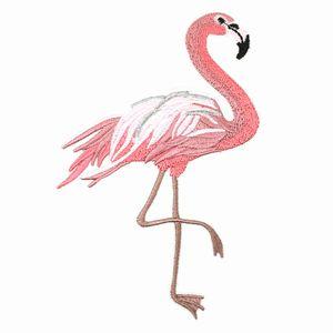 5 par 10x15 cm Ferro Em Bordado Flamingo Remendo Rosa Aves Applique Patches Bordados Para Roupas Jaqueta jean vestir sapato