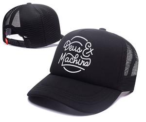 Tout neuf! Deus Ex Machina Baylands Camionneur Snapback Hommes Femmes Bboy Filles Mesh Sports Chapeau Hiphop Dieu Prient Ovo Casquette Noir