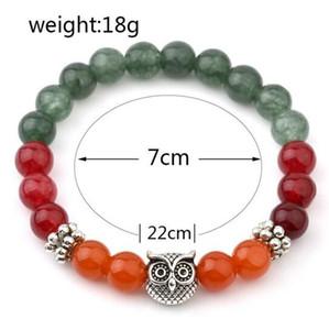 Mode Coloré Bracelets Pour Les Femmes Tibétain Argent Hibou Perlé Bracelets Cadeaux Charmes Bracelets Vintgae Inde Perle Bijoux En Gros Bracelet