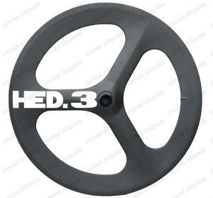 HED Fast Forward F700c bicicletas de carretera tri-spoke ruedas de carbono 56mm clincher fija rueda de engranaje de alta calidad clincher para Time Trial Bike Wheel