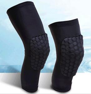 Alta qualidade estendida longa proteção do joelho pro nível de esportes de apoio ao joelho de basquete perna almofadas joelheiras