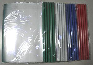 Alta calidad Wholesale-100pcs / lot carpeta de archivo transparente bolsa de documentos de plástico, envío gratis tamaño A4 bolsa, materiales PP