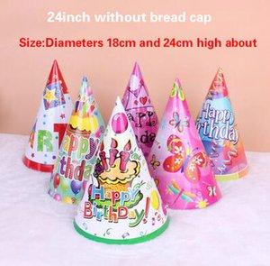 20g 24 inç lazer parlayan şerit ekose kağıt doğum günü şapka kap performans sahne yetişkin ve çocuk kullanım parti Süslemeleri toptan