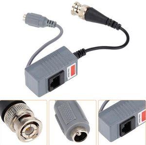 Neue Ankunft CCTV Kamera Zubehör Audio Video Balun Transceiver BNC UTP RJ45 Video Balun mit Audio und Power über CAT5 / 5E / 6 Kabel