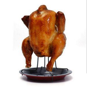 الجملة الكربون الصلب تستقيم الرف مشوي الدجاج مع وعاء القصدير غير عصا أدوات الطبخ الخبز عموم الشواء شواء الملحقات للشواء