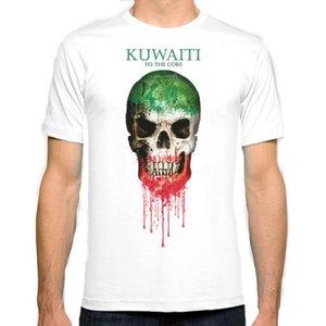 Kuveyt Kafatası bayrağı Yeni Moda Adam T-Shirt Pamuk O Boyun Erkek Kısa Kollu Erkek tişört Erkek Tee Toptan Üstleri