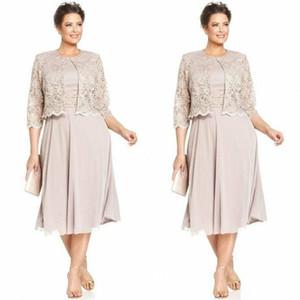 드레스의 우아한 짧은 레이스 어머니 드레스 정장 양복 대모 이브닝 웨딩 드레스 복장 맞춤 제작 플러스 크기