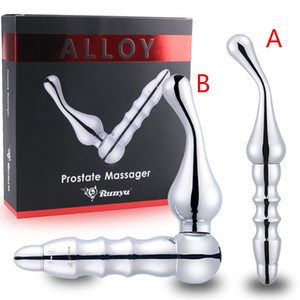 Металл Мужчина Вибрационный массажер простаты Anal Анальные G-Spot Простата Вибратор для мужчин анальный секс игрушки для взрослых Эротические