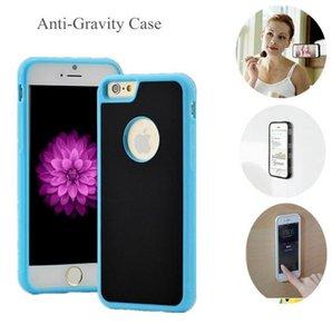 Híbrido gravidade Anti Magnetic Nano sucção tampa do telefone para o iPhone 7 8 6 6S Plus X XS XR Max Samsung Galaxy S8 S9 S10 Plus Nota 8 9 Tampa