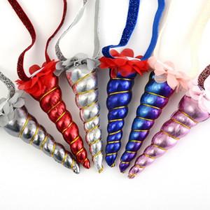 Regalo de bebé nuevo diseño fiesta de cumpleaños de princesa Children unicornio vendas de gasa floral de los niños del niño de la venda del pelo de la cinta del pelo Accesorios